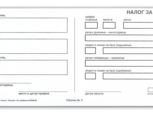 Podizanje novca sa računa za preduzetnike paušalce