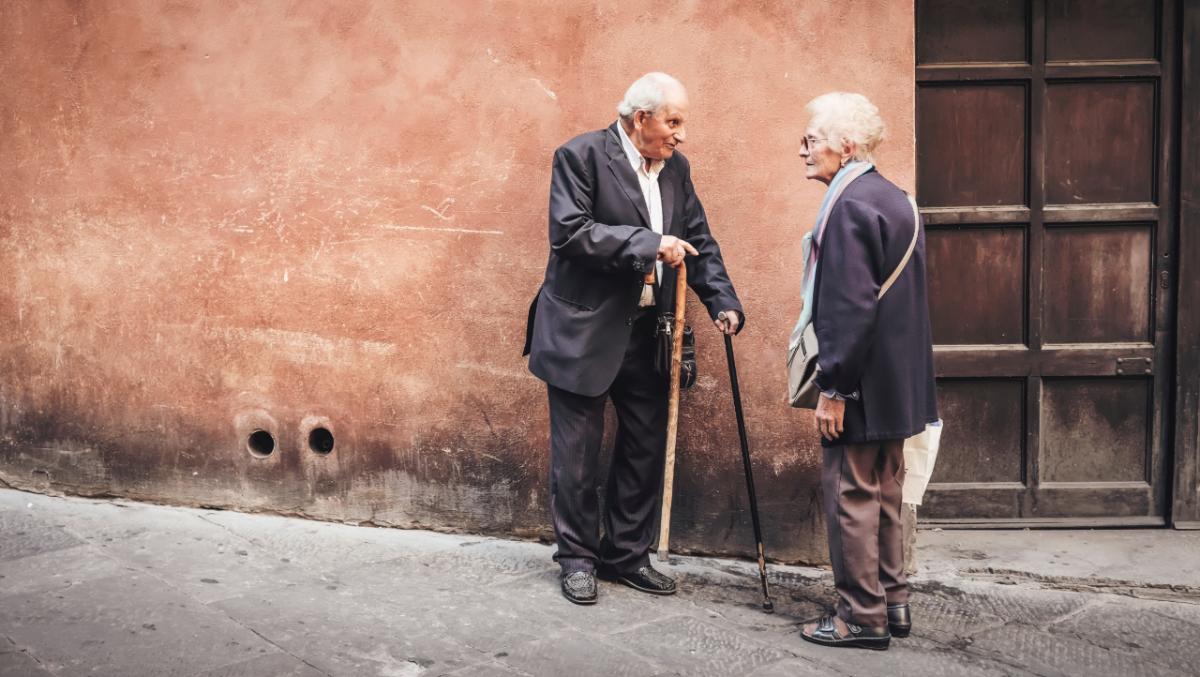 old people talking pixl